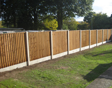 Waney edge fence & gate, posts & boards.
