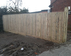 Picket Panel Wooden Fence