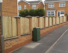 Bowtop Featheredge Fence Panels