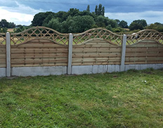 Sussex Wave Wooden Fence