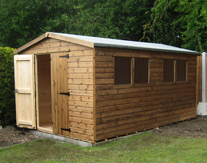 Derbyshire fencing manufacture and paving supplies for Very small garden sheds